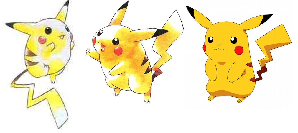 Pikachu Over Time