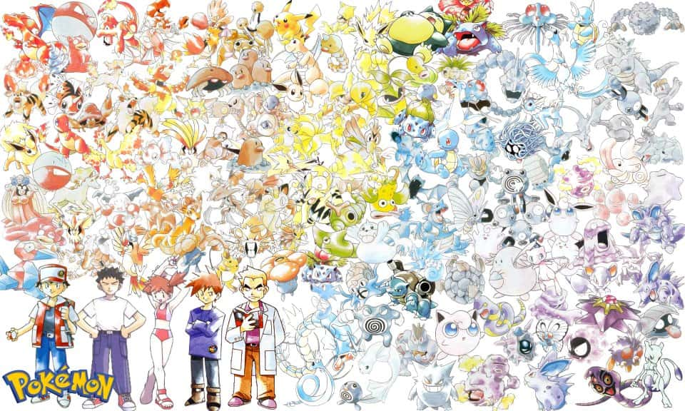 Sugimori All Pokemon Art