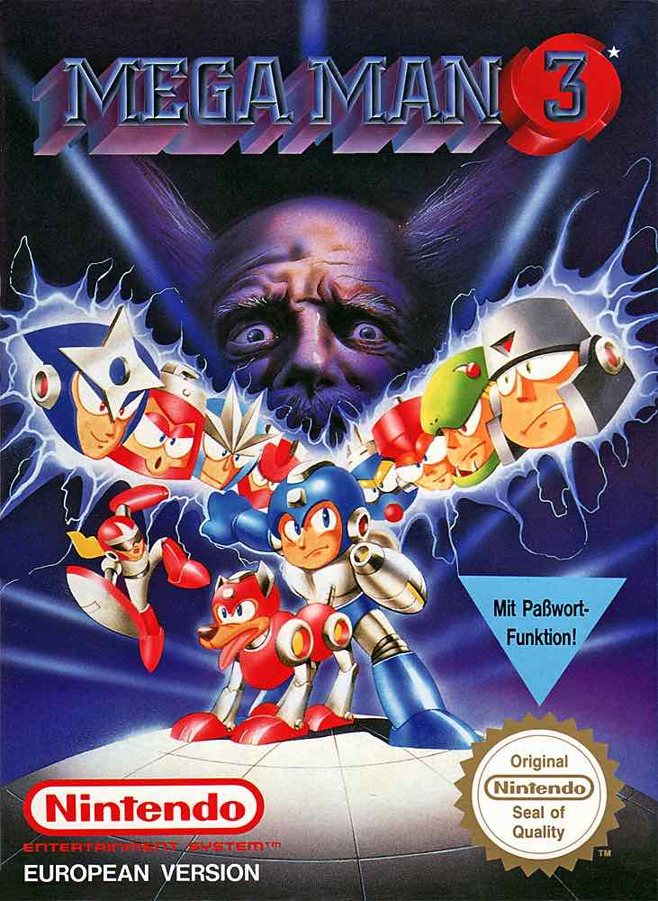Mega Man 3 EU Cover