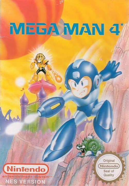 Mega Man 4 EU Cover