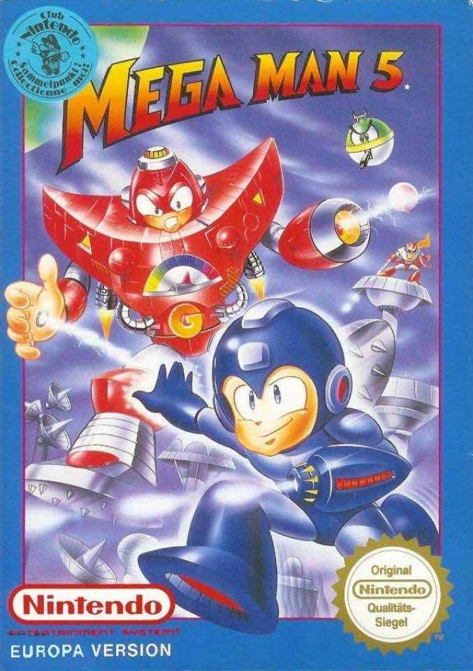 Mega Man 5 EU Cover