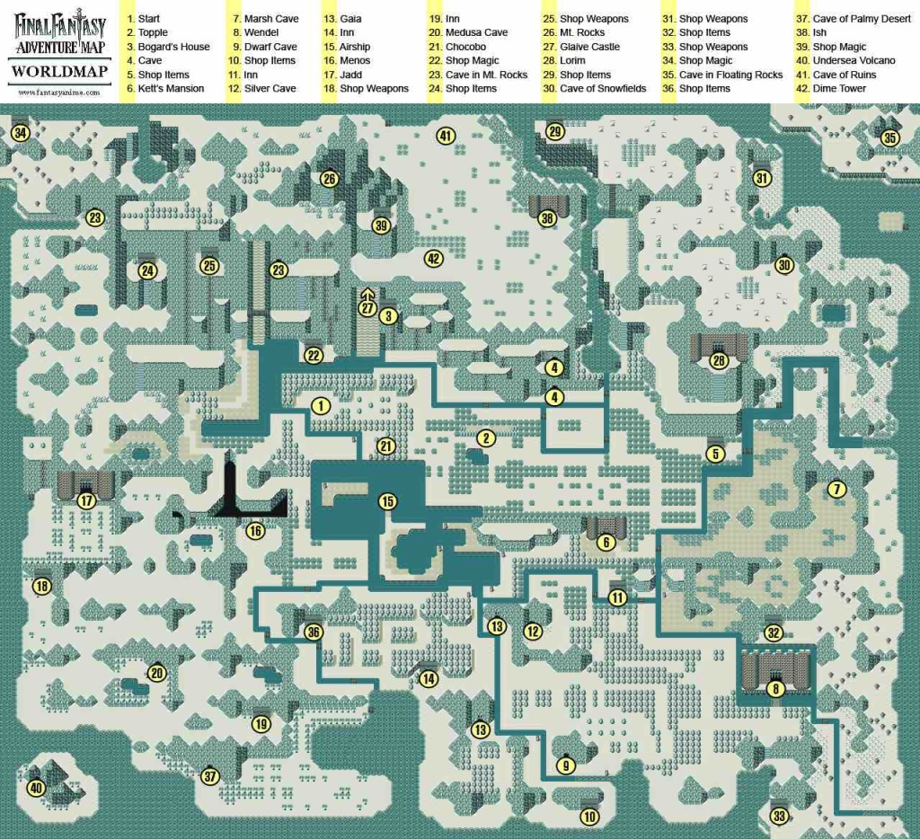 Final Fantasy Adventure Map