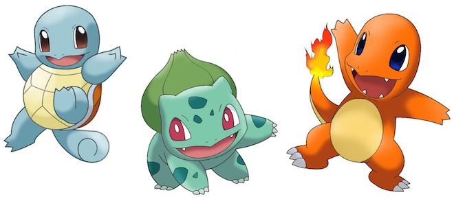 Pokemon Red Blue Starters