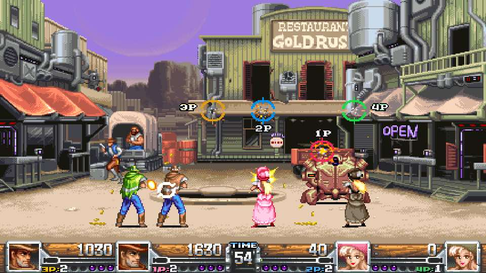 Wild Guns Reloaded 4 Player