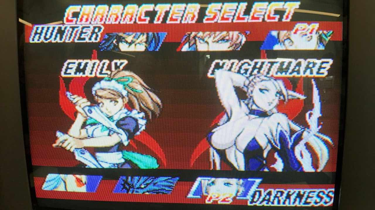 Character Select Screen for Unholy Night